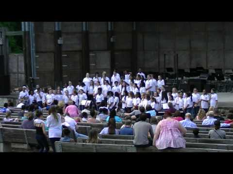 Salem Church Middle School Chorus at Pocahontas Amphitheater 6-2-16