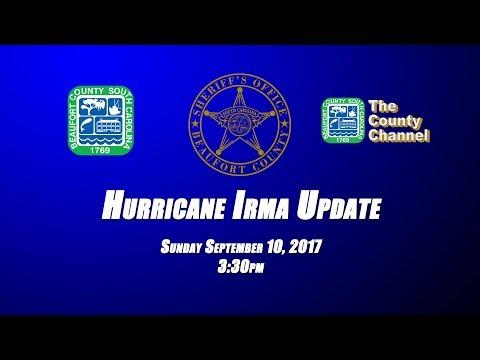 Sunday 9/10/17 Beaufort County Sheriff Office Hurricane Irma Update