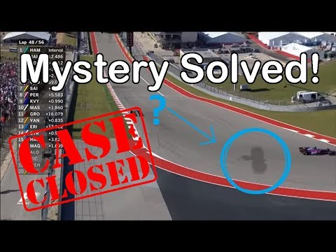 2017 F1 US GP Austin Texas GIANT EAGLE shadow on the track! SOLVED!