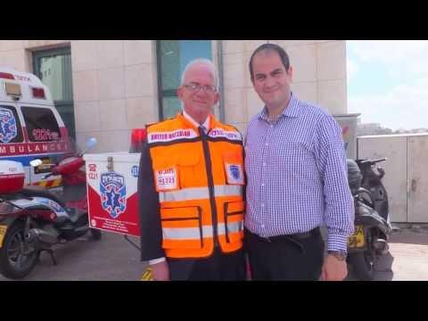 Former U.S. Congressman Howard Berman visits United Hatzalah headquarters in Jerusalem