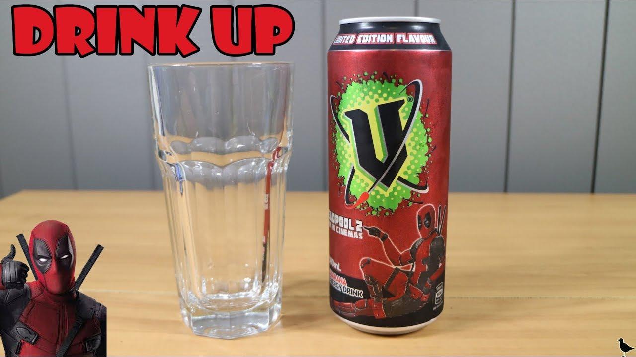 Limited Edition Deadpool 2 V Energy Drink Taste Test ...