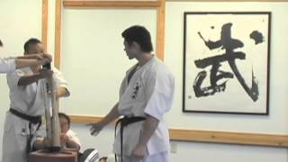 2012 Yamaki Karate Sensei Jun Watanabe Breaks Three Baseball Bats Slow Motion