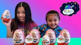 GIANT KINDER BARBIE SURPRISE EGGS! Opening New Giant Kinder Eggs Disney Barbie Frozen Surprise Toys