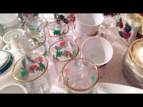 Thrift Stores Goodwill and The Salvation Army  Haul Beautiful Fine China