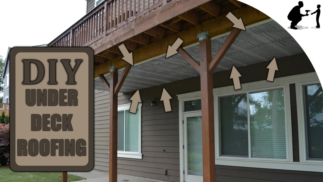 diy how to install under deck roofing