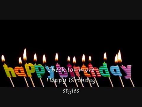 Happy Birthday - Sing Along - JAZZ style