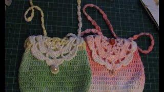 Вязание крючком.Сумочка для маленькой модницы. Часть 2