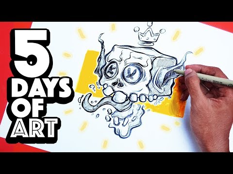 How to Draw from your IMAGINATION? | 5 Days of Art