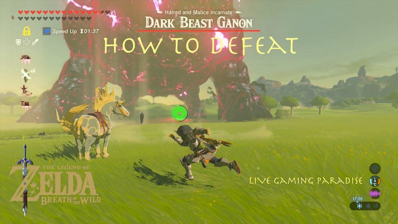 Breath Of The Wild Final Boss Dark Beast Ganon Guide All Endings