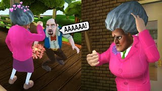 Злая Бабка Учительница Мисс Ти ПОТЕРЯЛА МУЖА Испортил СВИДАНИЕ   Scary Teacher 3D