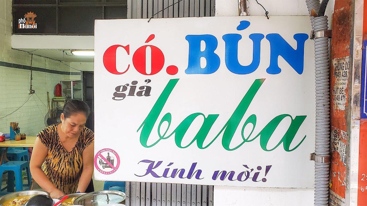 Bún Giả Ba Ba gia truyền có 1-0-2 trên phố cổ Cầu Gỗ Hà Nội #hnp