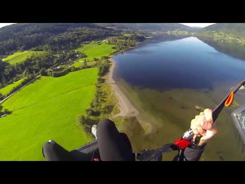 Paragliding in Voss, Norway with Shannon of CameraAndCarryOn.com