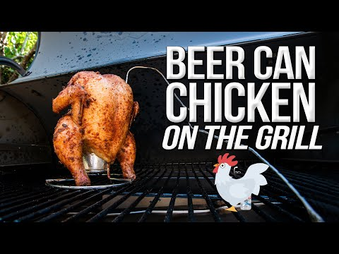 The Best Beer Can Chicken - Smoked On My Traeger Grill | SAM THE COOKING GUY 4K