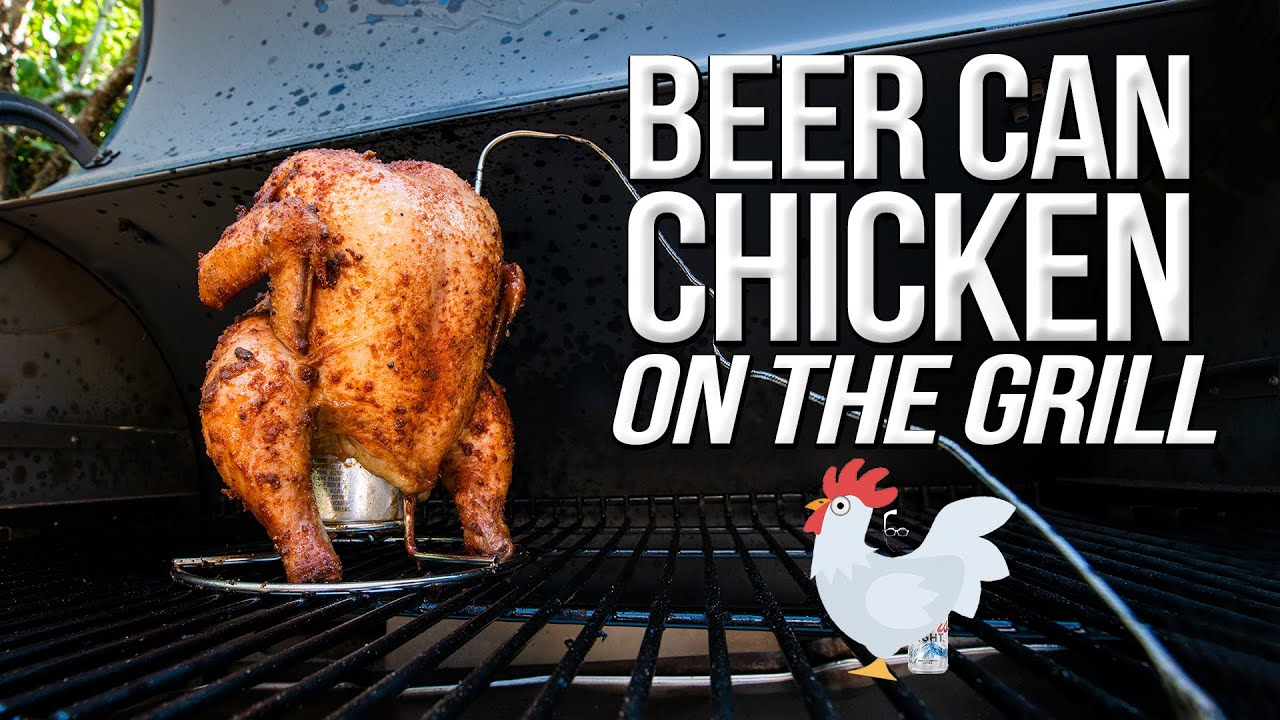 The Best Beer Can Chicken Smoked On My Traeger Grill Sam The Cooking Guy 4k Youtube
