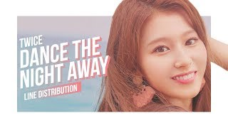 TWICE - Dance The Night Away Line Distribution (Color Coded) | 트와이스 - 댄스 더 나잇 어웨이