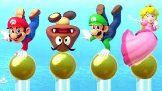 Super Mario Party MiniGames - Mario vs Luigi vs Peach vs Goomba (Master Cpu)