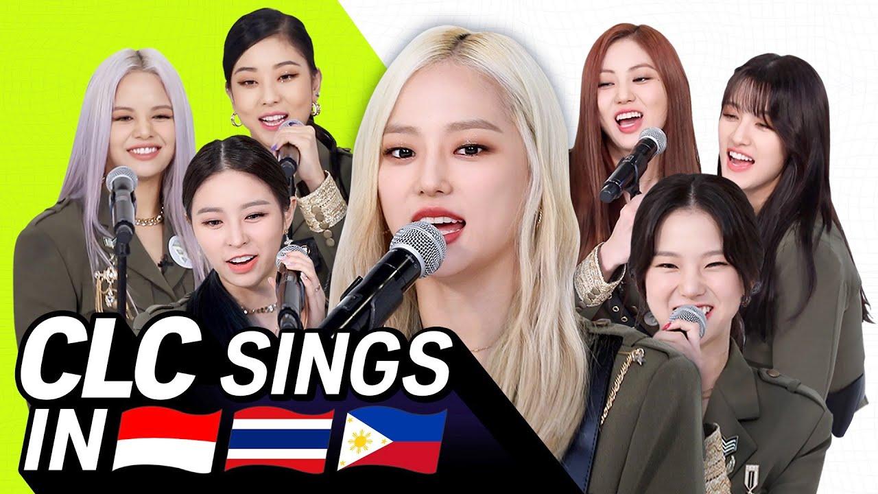 K-POP STARS sing in INA/THAI/TAG 🎤  CLC   TRANSONGLATION