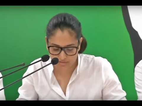 Ramya Divya spandana fired on BJP government 16-05-2017 AICC