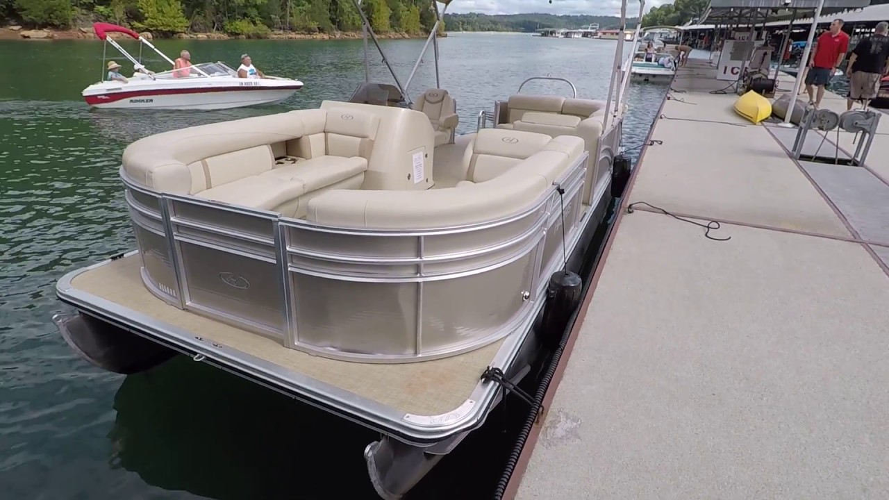 2018 Harris Cruiser 220 Pontoon Boat with 90HP Mercury 4-Stroke Outboard  For Sale on Norris Lake TN