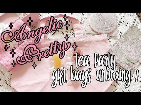 【Unboxing】 Angelic Pretty Paris ♡ Tea Party Gift Bags Unboxing !