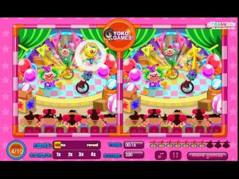 เกมส์ เกมส์จับผิดภาพ Spot the Differences Circus