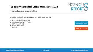 2022: Global Specialty Sorbents Market Growth, Share, Trends and Industry Focus