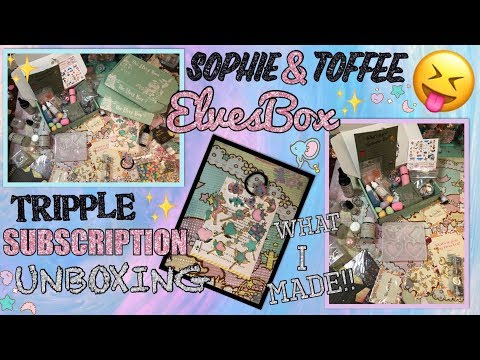 SOPHIE & TOFFEE HAUL!!! TRIPLE SUBSCRIPTION UNBOXING!!! ELVES BOX, RESIN CRAFT HAUL
