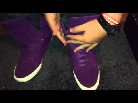 Supra Tk Society Purple Suede On Feet