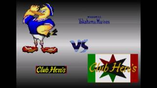 Excite Stage J League 96 - Human vs Hardest AI Club Heroes Game 2 (Capcom Soccer Shootout 3)