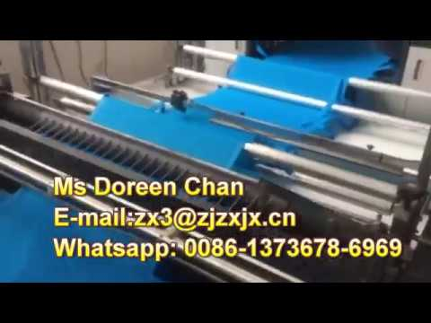 Non woven cutting machine with handle automatically