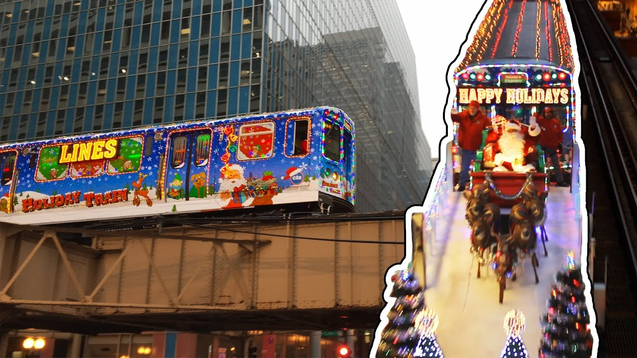 chicagos cta holiday train youtube