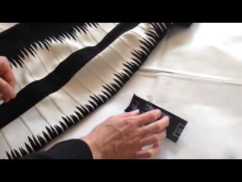 How to safely remove the label / tag from a Hervé Léger dress.