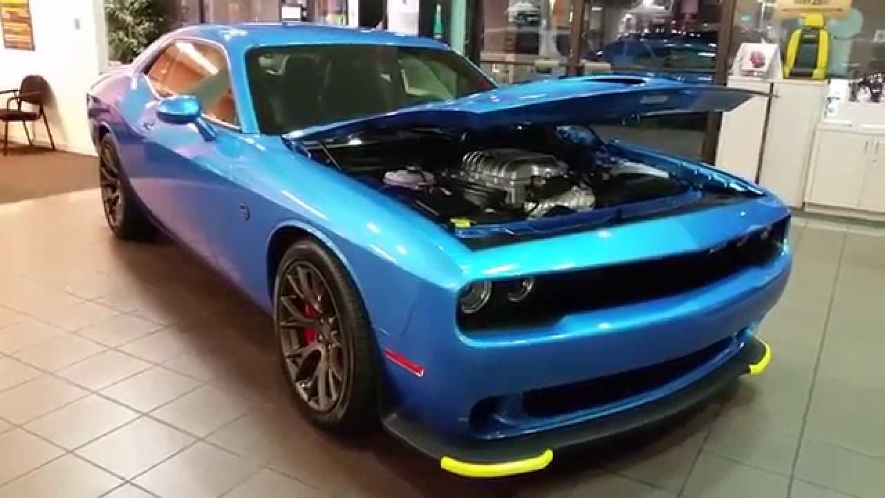 2016 B5 BLUE DODGE CHALLENGER CAT ON THE LOT FOR SALE - YouTube
