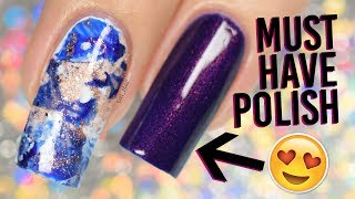 The MUST HAVE polish of Fall 2017 (with EASY smoosh marble nail art)
