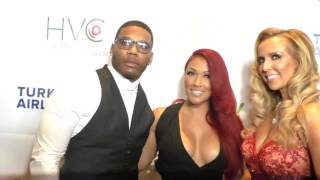 Shantel Jackson and Nelly at the Face Forward's 6th Annual Gala at the Millennium Biltmore Hotel in