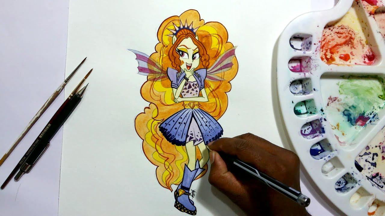 How to draw my little pony equestria girls adagio dazzle pony human youtube - My little pony en humain ...