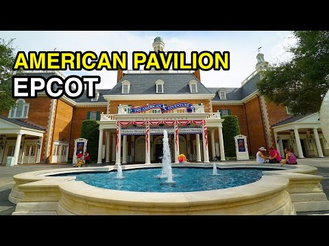 [4K] American Pavilion - World Showcase : Epcot (Orlando, FL)