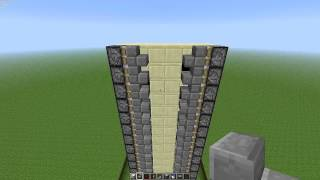 Minecraft 1.3.2 Zipper Elevator Tutorial - Very Easy and Compact!