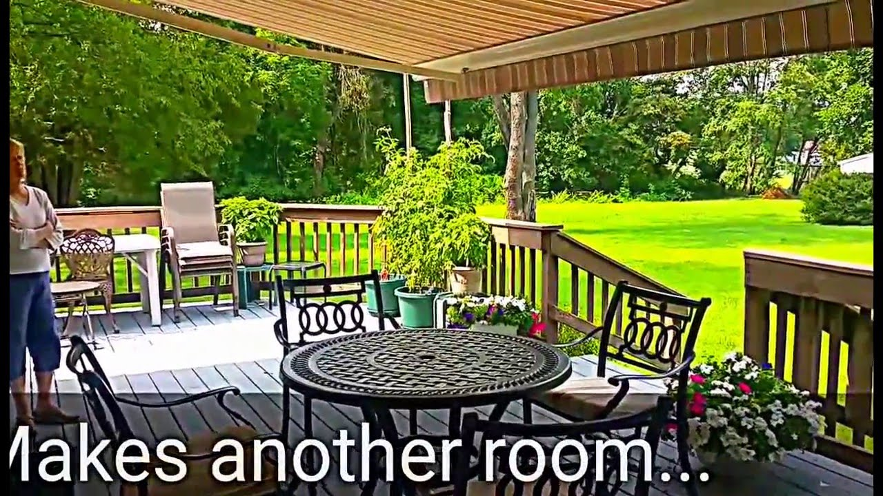 sun shade deck awning outdoor living expert youtube