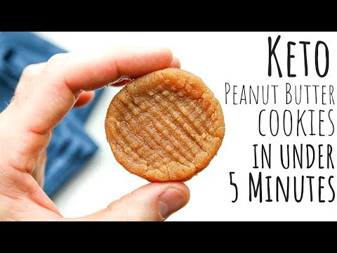 No Bake KETO Peanut Butter Cookies Recipe | LOW CARB, EASY, & MADE WITHOUT EGGS