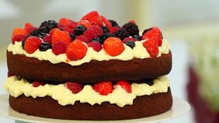 Идея. Как Оформить Торт «Красный Бархат» свежими фруктами. С.Пудовъ. Все для Выпечки!