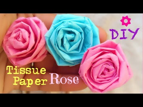 How to make Tissue Paper Roses - Very Easy DIY