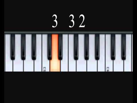 How To Play Abide With Me - Playing Music By Numbers Piano Lesson