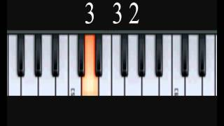 How To Play Abide With Me - Music By Numbers Piano Lesson
