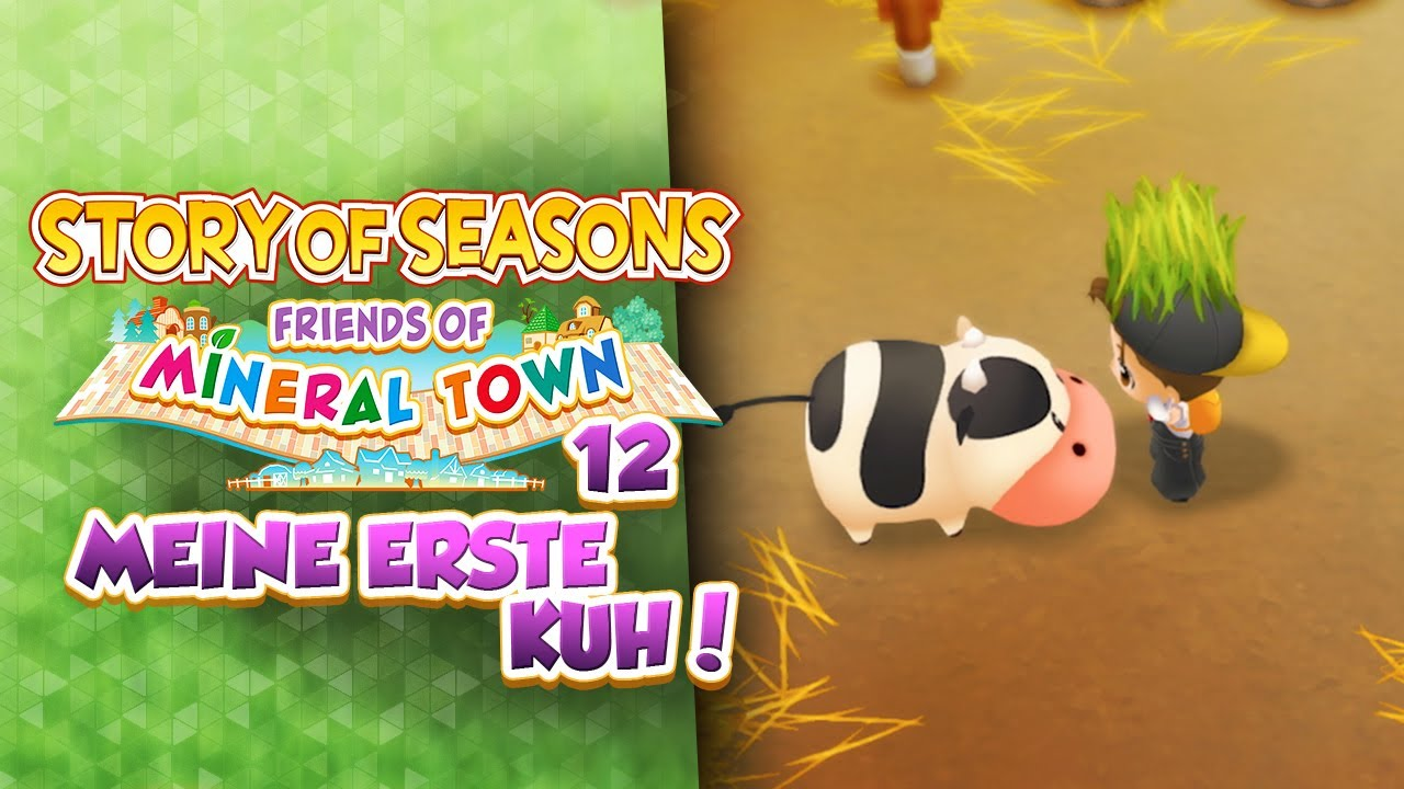 Meine Erste Kuh 12 Let S Play Story Of Seasons Friends Of Mineral Town Youtube