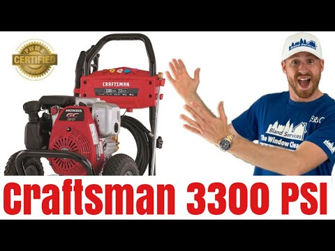 Craftsman 3300 psi power washer Out of the box review