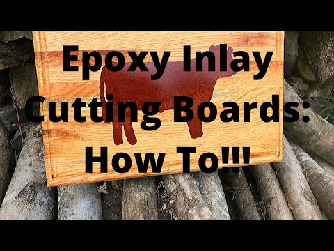 How to make Wooden Cutting Boards with Epoxy Inlay.