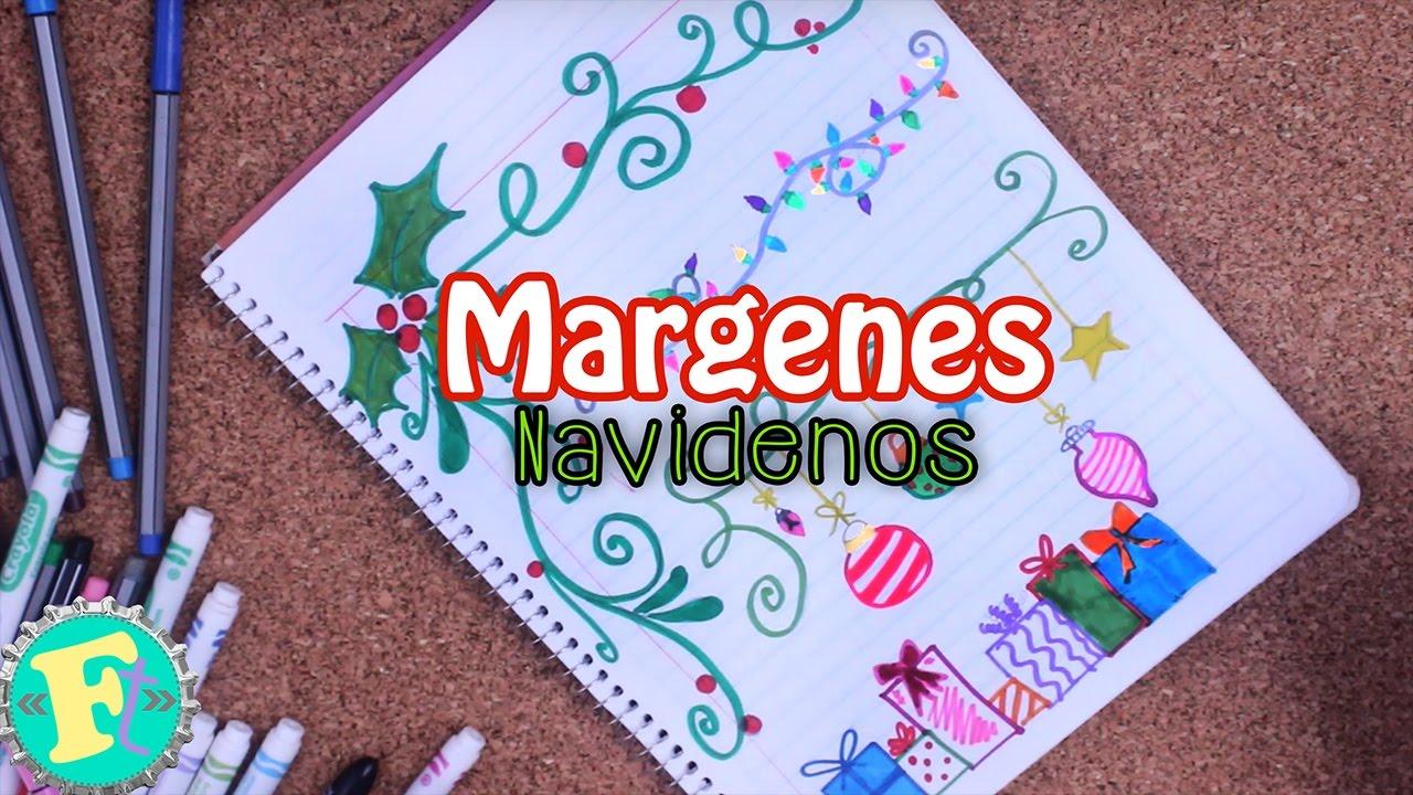 Margenes y bordes navide os ideas floritere youtube for Decoraciones para hojas