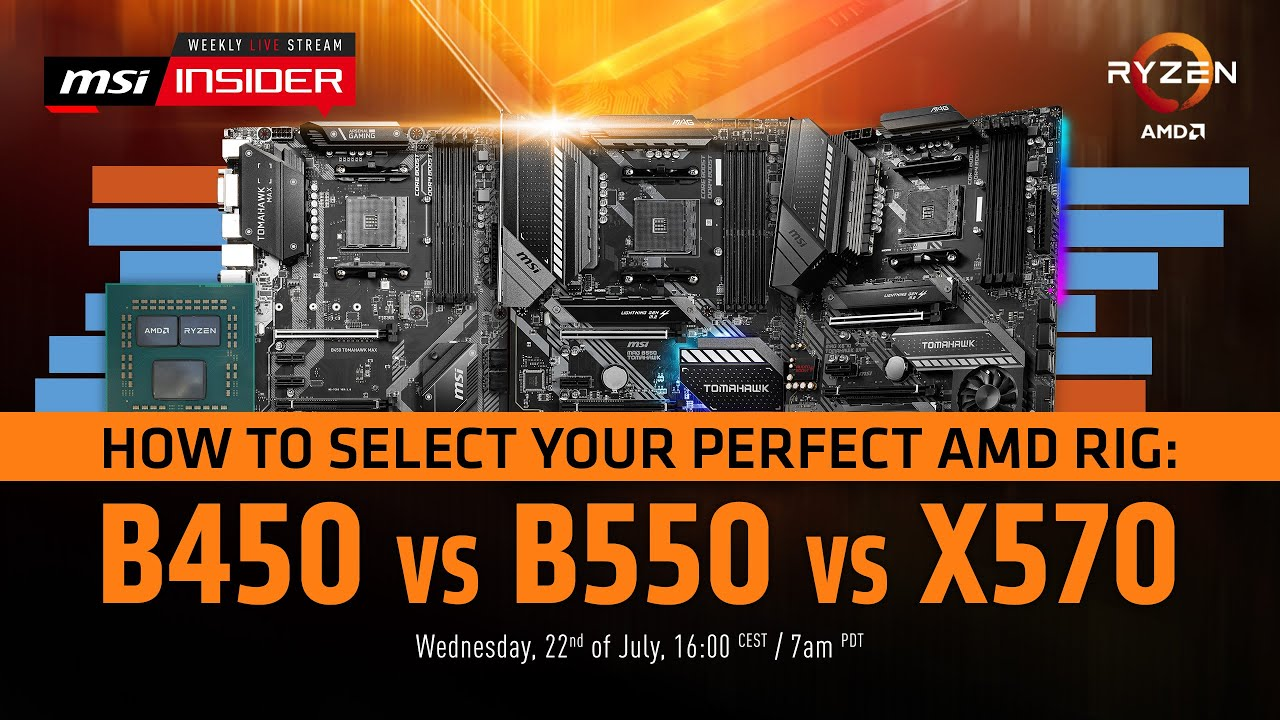 How To Select Your Perfect Amd Rig B450 Vs B550 Vs X570 Youtube