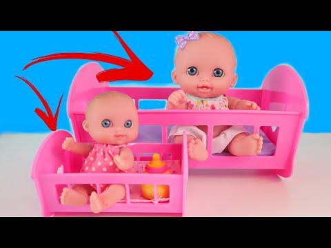 Куклы Пупсики БОЛЬШОЙ И МАЛЕНЬКИЙ/видео для малышей/кушаем мороженое/катаемся на велосипеде/Зырики